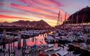 crepúsculo en el puerto