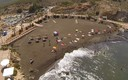 panoramica aerea de la playa de lastre