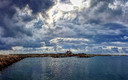 Cielos nubosos en el Puerto de Sagunto